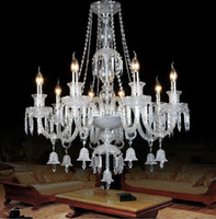 Modern hand blown art glass - modern crystal chandeliers Luxurious Crystal Chandelier living room indoor lighting hand blown glass lighting hotel chandeliers glass arms