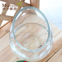 Glass beveled glass - Style decorative flower pots hydroponic flower ZAKKA transparent beveled glass vase
