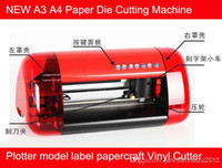 Wholesale NEW A3 A4 Paper Die Cutting Machine Plotter model label papercraft Vinyl Cutter free shiping