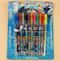 Wholesale New Arrive Product Box Pen Hotsale Frozen Color Glitter Pen Pen