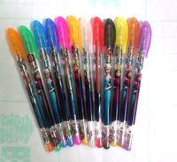 Wholesale Box Pen Frozen Gel Pen Shining Glitter Writing Supplies Stationery Office School Supplies