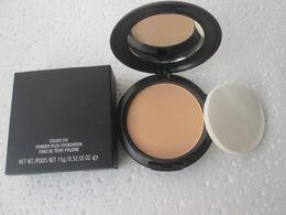 NW25 1pcs lot good quality makeup new studio fix powder plus make up face foundation 15g face powder concealer with sponge makeup