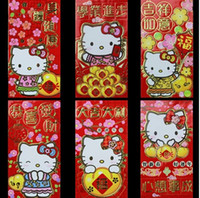 Cheap (600 Pcs Lot) 2014 Chinese New Year Hello Kitty Despicable Me Paper Red Envelope! Best Supplies For New Year Wedding