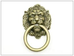 Wholesale 30pcs Antique Bronze Lion Head Dresser Knobs Modern Baby Pulls Cabinet Hardware Dresser Handles Cartoon