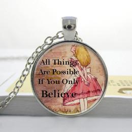 Wholesale L100 Alice In Wonderland Pendant Alice Charm Necklace Alice In Wonderland Jewelry