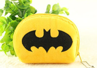Wholesale Half Round BATMAN Mini Plush HAND Coin Purse Wallet Pouch Bag Case Pendant Chain Storage Cash Purse Bag Case Pouch BAG Wallet