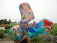 Wholesale Girl s happy birthday party decoration suppplies Airwalk super shape Little mermaid areil aluminum foil