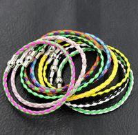 Wholesale New Pandora Single European Leather Bracelets Chains With Magnetic magnetism Clips cm cm cm CM CM Jewelry DIY Colors