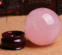 Wholesale AAA Natural Pink Rose Quartz Magic Crystal Healing Ball Sphere MM Stand