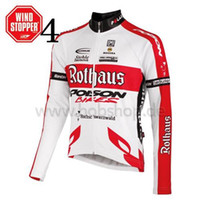 Wholesale Rothaus Cycling Shirt High Quality Winter Long Sleeve Cycling Tops with Invisible Zipper Breathable Mens Cycling Jerseys Size from S to XL