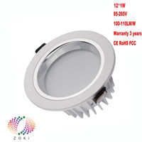 Wholesale LED Downlight Dimmable LED Down Light W W W W W W W W Bridgelux Chip Warranty Years Good Quality