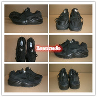 Wholesale Famous Trainers Air Huarache Free LE Triple Black Classic Women s Sports Running Shoes Size