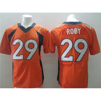 Cheap #29 Roby Orange Elite American Football Jerseys Cheap and High Quality Stitched Football Uniform Sportswear 2014 New Season Hot Sales