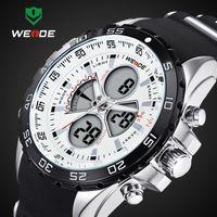 Wholesale 2014 Latest Meters Waterproofed WEIDE Brand Analog Wristwatch Men Sports Watch Japan Quartz Movement Watches Year Guarantee