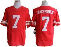 Wholesale Top Quarterback Colin Kaepernick Red Elite Football Jerseys New Season American Football All Teams Jersey Discount Football Shirts
