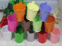 Cheap GAGA! bucket tin box Free shipping tin box Mini Pail Mint Tin Wedding Favors ,12 colour mix batch , MG200