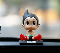 Wholesale Doll Car Ornaments Decoration Automotive Supplies Lovely Astro Boy Shaking Head Solar Doll Handmade Hot Sale Fast Shipment Factory Price