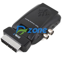 Wholesale Scart Digital TV Box Tuner DVB T SD FreeView Receiver