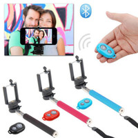 Wholesale Selfie Rotary Extendable Handheld Camera Tripod Mobile Phone Monopod Wireless Bluetooth Remote Control For Smarthone in