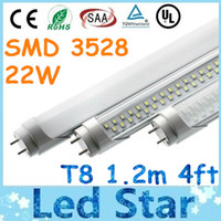 Cheap Brand New SMD 3528 T8 Led Tube Lights 4ft 1.2m 1200mm 22W AC 110-277V Led Fluorescent Lamp Warm Natural Cool White 2800 Lumens + CE ROHS UL