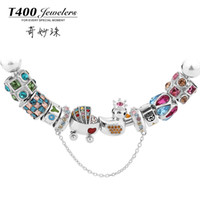 Cheap T400 wonderful New Year's gift 14 years bead charm new silver fashion jewelry baby 's dream QT03