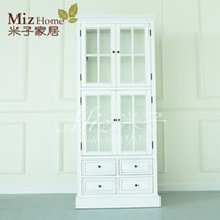 Wholesale European solid wood furniture group insurance foyer closet cabinet bookcase cabinet cupboard locker cabinet storage cabinets Lucy