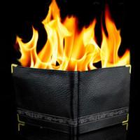 Wholesale Magic Trick Flame Fire Leather Wallet Street Magnetic Inconceivable Show Prop Hot