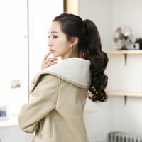 Cheap Really long ponytail wig long curly ponytail hair style straps pear fluffy hair really long hair human hair clip-on grip