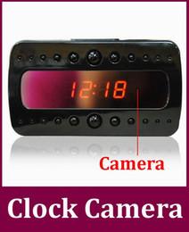Enregistrement vidéo cachée en Ligne-HD 1080p V26 Black pearl vision nocturne RF réveil détection de mouvement vidéo / enregistrement cachés 10pcs horloge de l'appareil son / lot DHL gratuit