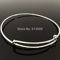 Wholesale for mm diameter wiring bracelet for beading or charms Alex and Ani style expandable banglesDIY Bangle