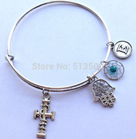 Wholesale May Birthstone Charm Bangle Mix Birthstone Color Alex and Ani Initial Charms Dream Catcher Bracelets