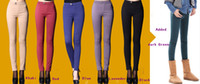 Wholesale New Arrival High Quality Women Slim Skinny Thermal Warm Velvet Tight Footless Pants More Colors