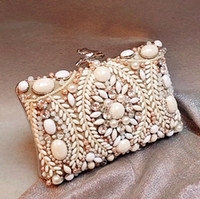 luxury leather handbags - Luxury Nude Bridal Hand Bags Celebrity Inspireed Evening Bags Acrylic Night Party Handbags Large Bead Rhinestone Crystal Clutches Bags