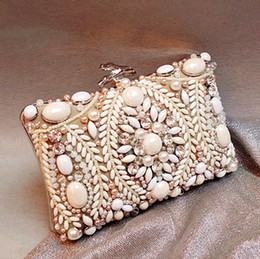 Luxury Nude Bridal Hand Bags Celebrity Inspireed Evening Bags Acrylic Night Party Handbags Large Bead Rhinestone Crystal Clutches Bags