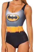 One Pieces batman swimwear - HOT outdoor fun sports Tankinis Set Sexy Bikini Bodysuit BATMAN CAPE SUIT Digital Printing Swimwear Women bathing suit top sale new