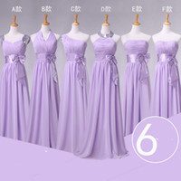 Cheap 2015 New Real Picture lavender Bridesmaid Dress Wedding Party Gown Different Style Sash Chiffon Long Junior Girl Formal Evening Gown Cheap