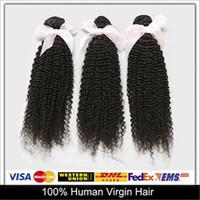 Cheap Fantastic Hair!Brazilian Peruvian Malaysian Indian Virgin Hair Extensions 3pcs Kinky Curly Human Hair Extensions Hair Weave Wefts