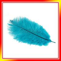 Wholesale Teal Blue Natural Ostrich Feathers quot quot cm cm Wedding Party DIY Decor Different Color Fan Making New