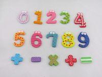 Wholesale Creative Wooden Fridge Magnet Sticker Refrigerator Magnet Number Operation Symbol
