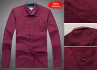 2014 Fashion Men Long Sleeve 100% Cotton dress shirts men&#0...