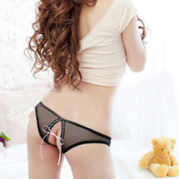 Cheap Min.order is $10 , Sexy Women Open Crotch Mesh Briefs Panties Sex women Underwear Briefs Erotic Lingerie Lutun pants n17