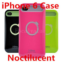 i-glow cases - i Glow iPhone Hybrid Luminous Noctilucent Ring Case iPhone6 Cover Cases Phone Shell With Stand Holder Retail Box