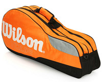 Wholesale Orange Wil brand son racquet exercise pc racket tote Sport pat duffel Tennis bag