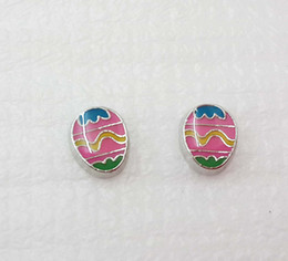 Pink Easter egg floating charm for your origami owl or similar floating lockets