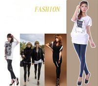 Cheap Fashion Women's Mid Waist Leggings Fuax Leather Leggings Skinny Tights Pants Slim Punk Style Leggings Stretchy Trousers