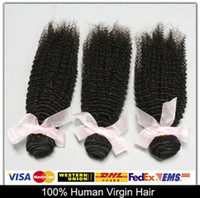 Cheap Quick Delivery!Brazilian Malaysian Peruvian Indian Virgin Hair 3pcs Kinky Curly Unprocessed Human Hair Wefts Weave Top 6A Natural Color