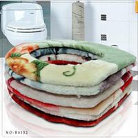 Wholesale Thick warm blanket plush toilet toilet seat cover toilet warm pad