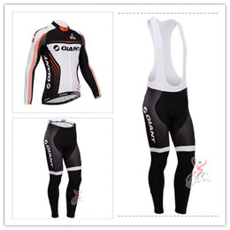 New 2014 GIANT Team winter Fleece cycling jersey long sleeve Cycling clothing+(bib) Pants Set winter thermal fleece cycling clothing #01