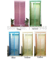 Wholesale Details about colors Summer Mesh Screen Door Magnetic Stripe Anti Fly Mosquito Bug Curtain