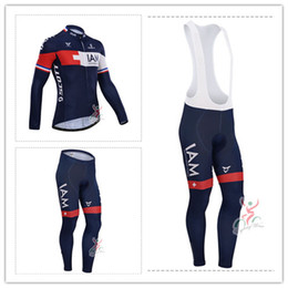 New 2014 IAM Team winter Fleece cycling jersey long sleeve Cycling clothing+(bib) Pants Set winter thermal fleece cycling clothing